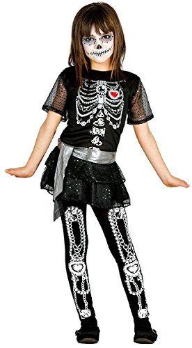lett funkelnd Paillette Halloween Karneval Fest Kostüm Kleid Outfit Kleid mit Rüschen Rock & Leggings 5-12 Jahre - 5-6 years (Funkelnde Leggings)