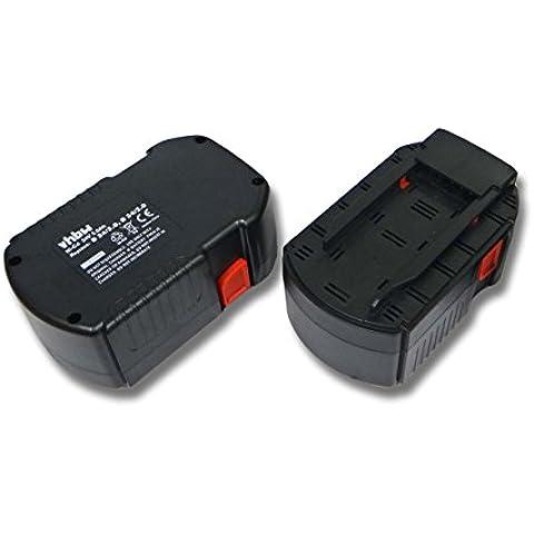 vhbw 2x Ni-CD batería 2000mAh (24V) para herramientas Hilti WSR 650-A, WSC 6.5, UH 240-A, WSC 55-A24, TE 2-A, SFL 24 por Hilti B24, B 24/3.0,B