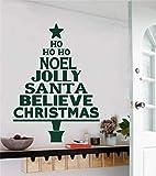 fancjj Noel Jolly Santa Quotes Weihnachtsbaum Wandaufkleber Vinyl Art Home Deco Wandbild...