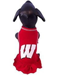 NCAA Wisconsin Badgers Collegiate Cheerleader Dog Dress (XX-Small) by All Star Dogs