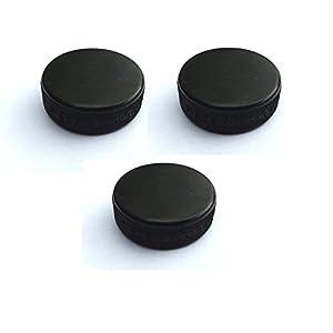 3x Minipuck Puck schwarz, 20g, 3,70 cm