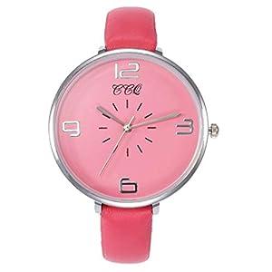 Hffan Damen Retro Quarzuhr Armbanduhren für Frauen mit Elegant PU Lederband Beobachten Tabelle Handschmuck Armband Uhren Damenuhr Schau zu Handverzierungen