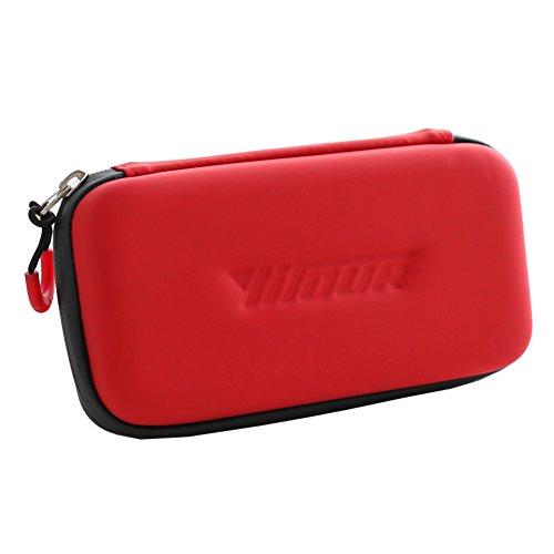 Hstyle Diabetiker Tasche Insulin Kühltasche für Medikamente Thermotasche, Diabetikertasche mit 2 Kühlakkus 19 CM/7.4'' * 10 CM/3.9'' * 4.5 CM/1.7'' Medizinische Kühltasche LSJ-80083YDSH (Rot)