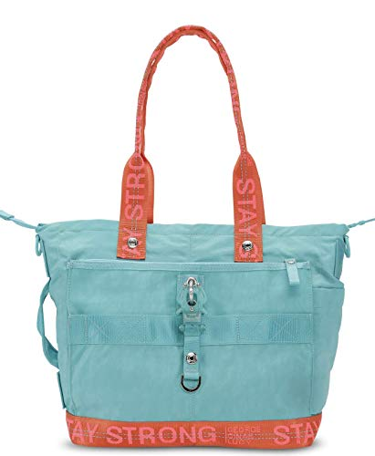 2-ton-tasche (George Gina Lucy Tasche THE STYLER Nylon Roots 2 Tone 2019 (Aqua Pumpkin Strong))