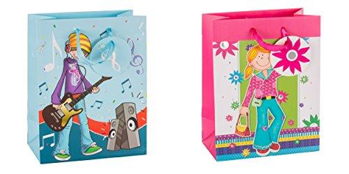 tsi-bolsa-de-regalo-para-botella-2-modelos-12-unidades-disenos-con-dibujos-de-adolescentes