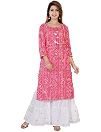 Sanganeri Kurti Women's Cotton Readymade Salwar Suit