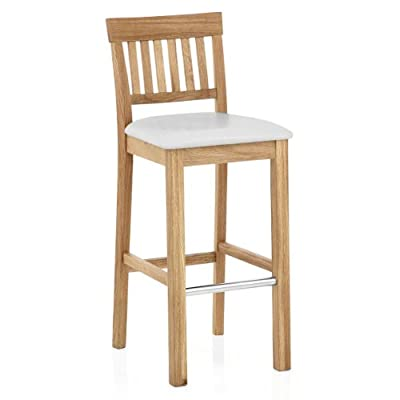 Grasmere Oak Bar Stool White