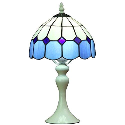 Bieye L30042 Lámpara de mesa estilo vitral, estilo mediterráneo ...