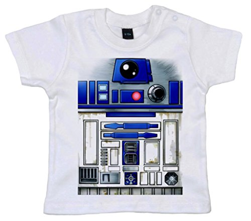(DF, Cute R2 Robot design, Baby T-shirt, 0-6m, Weiß)