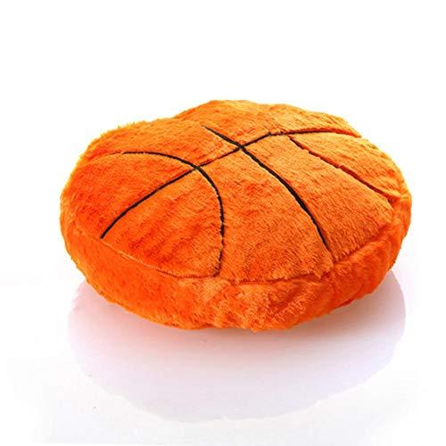 True-Ying Creative Fußball-förmiges Kissen, flauschig, gefüllt, Plüsch, weich, langlebig, Sport-Spielzeug, Geschenk für Kinderzimmer, Dekoration, 45 x 45 cm Basketball