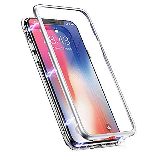 Silber, Glas, Audio (Alsoar Kompatibel für Galaxy S9 Plus Gehärtetes Glas Rückseite Transparent Magnetische Adsorption Hülle,Ultra Dünn Metallrahmen Anti-Scratch Stoßfest 360° Cover Handyhülle für Galaxy S9 Plus (Silber))