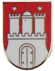 Yantec Wappenpin Hamburg 15mm Pin Anstecknadel