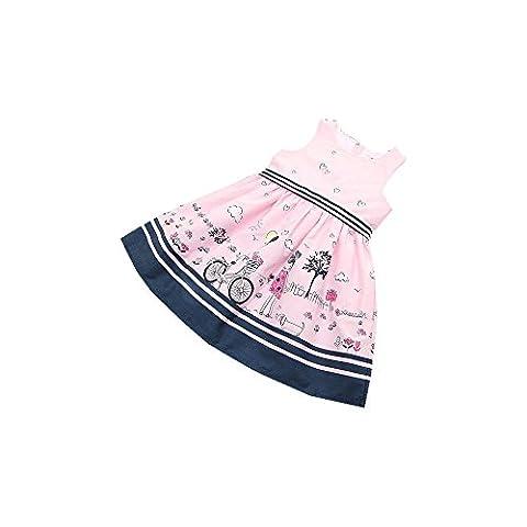 Saingace 2-8 Jahre altes Kleinkind -Kind-Baby-Kleid-Mädchen-Rosa-Sleeveless Partei-Prinzessin Pageant Kleider