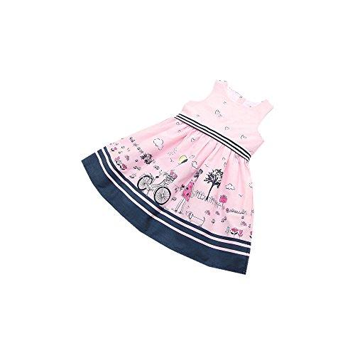 Saingace 2-8 Jahre altes Kleinkind -Kind-Baby-Kleid-Mädchen-Rosa-Sleeveless Partei-Prinzessin Pageant Kleider (4T) (Footed Sleeper Jungen)