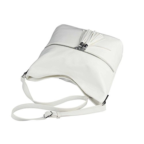 OBC Only-Beautiful-Couture, Borsa a spalla donna bianco bianco ca.: 39x32x15 cm (BxHxT) bianco