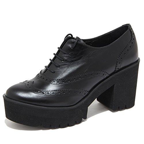 4138N scarpa allacciata PALOMITAS scarpe donna shoes woman nero Nero