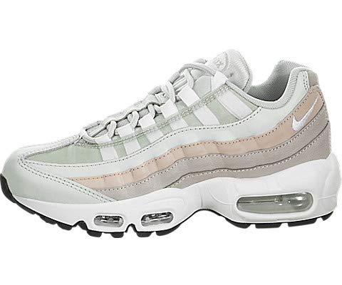 Nike Wmns Air MAX 95, Zapatillas de Gimnasia para Mujer, Gris (Lt Silver/White/Moon Particle Beige 018), 38.5 EU