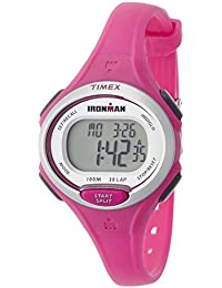Timex Women's Quartz Watch with LCD Dial Digital Display and Pink Resin Strap Tw5K90300