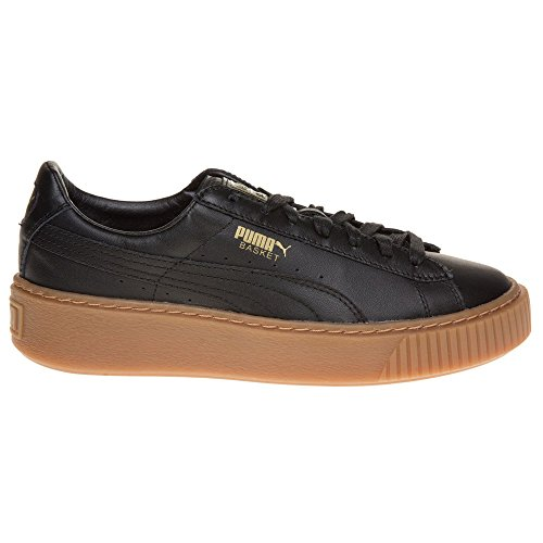 Puma Basket Platform Core, Sneakers Basses Femme Noir