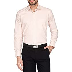 Van Heusen Mens Formal Shirt (8907670774076_VHSF517M02818_39_Beige)