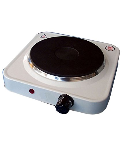 HD HOMES DECOR 1000 Watt Electric Cooking Portable Hot Plate Cook-Top (White)