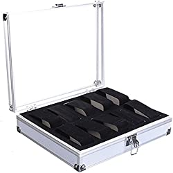 Bracelet Storage Case - TOOGOO(R)Aluminium Watch Storage Case Bracelet Organiser Display Box With Pillows Holders 10 Insert Slots