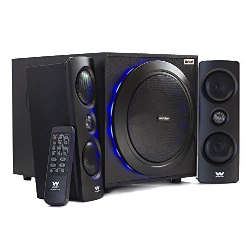 Woxter Big Bass 500 R - Altavoces 2.1, 150W BLUETOOTH, LEDS, Subwoofer...