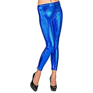 WIDMANN - Leggings metálicos azul large/extra-large