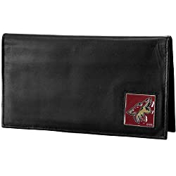 NHL Phoenix Coyotes Genuine Leather Deluxe Checkbook Cover