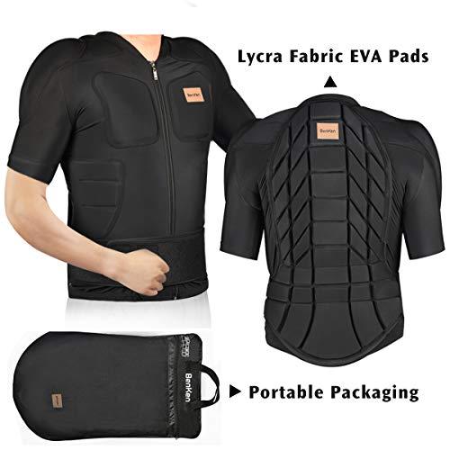BENKEN Skiing Body Short Protector Protezioni Pad con fodera motore petto spalla protezione schiena regolabile giacca da donna uomo materiale esterno imbottito