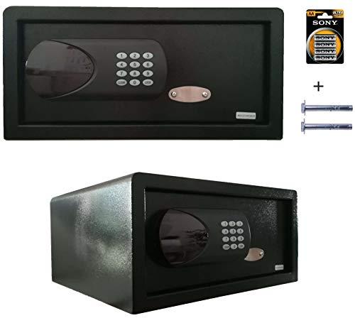 Caja fuerte Hotel portátil empotrable en pared apertura electrónica de armario 20 L grande 42 x 20...