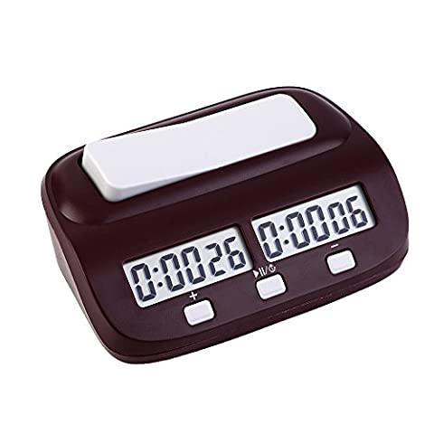 EgoEra® Professional Compact Digital Chess Clock Count Up Down Timer Electronic Board Game Competition Clock