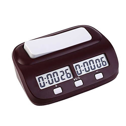 EgoEra® Professional Kompakt elektronisch Tafel Spiel Wettbewerb Uhr, Digital Schachuhr Countdown Uhr Timer Mit Alarm-Funktion -