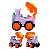 Winkey Best Gift Toy for Age 1 2 3 4 5 6 7+ Baby Boy Girls, 6Pcs Baby Kids Cute Twist Forward Movement Engineering Car Educational Toys