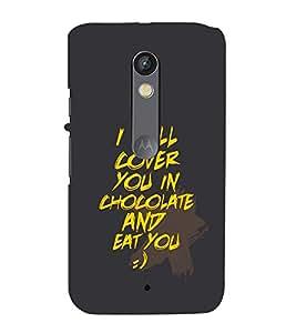 99Sublimation Passionate Love Quote 3D Hard Polycarbonate Back Case Cover for Motorola Moto X Force :: Dual SIM