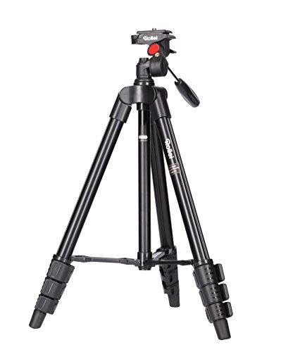 Rollei Stativ Compact Traveler Star S1 (kompaktes Videostativ aus Aluminium, bis zu 2 kg Traglast, inkl. Stativkopf und Schnellwechselplatte) schwarz
