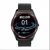 Reloj inteligente Monitor de frecuencia cardiaca Bluetooth Smart reloj Podómetro y calidad de sueño rastreador salud actividad Tracker reloj inteligente apoyo llamada recordatorio para Android IOS Smartphone