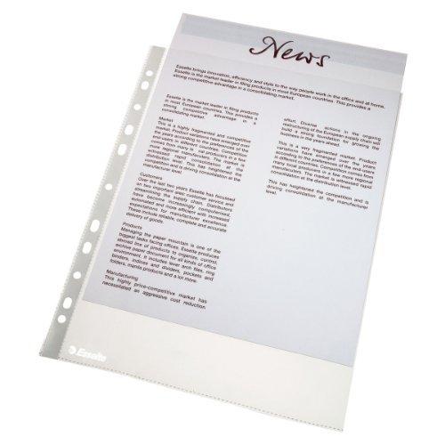 Preisvergleich Produktbild Leitz 56171 Prospekthülle Economy, A4, PP, genarbt, dokumentenecht, 100 Stück, farblos