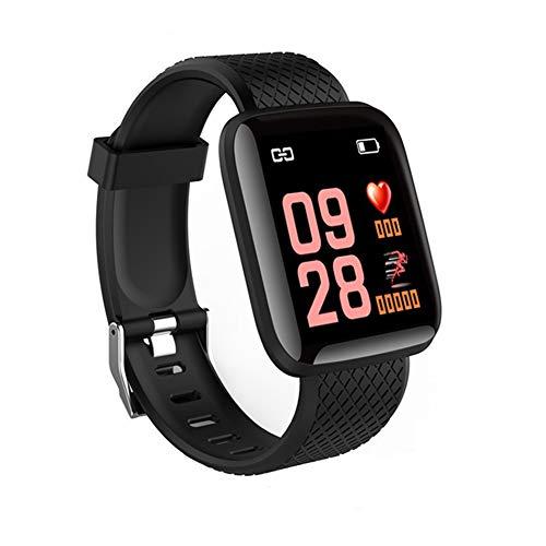 9302sonoaud Braccialetto Intelligente dello Sport di pedometro del Monitor di frequenza cardiaca dello Schermo di 1.3inch per Android iOS Nero