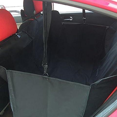 Minidiva Plegable Resistente al agua cubierta de asiento de la hamaca Seguridad Perro de coches para Mascotas (Negro)