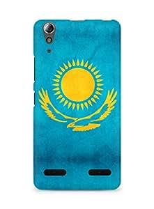 Amez designer printed 3d premium high quality back case cover for Lenovo A6000 (Kazakhstan flag freedom)