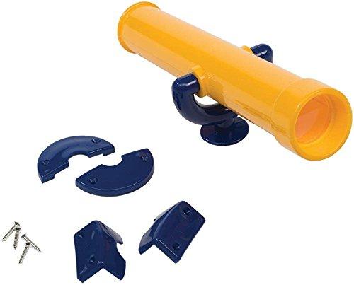 KBT Fernrohr / Teleskop für Spieltürme, Stelzenhäuser, Spielhäuser und Kinderspielgeräte Zubehör (Gelb / Blau)