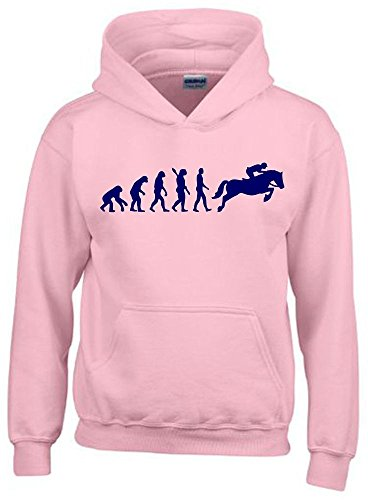 REITEN Evolution Kinder Sweatshirt mit Kapuze HOODIE pink-navy, Gr.164cm (Jungen Damen Pink T-shirt)