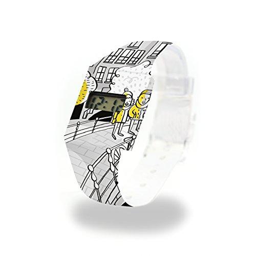 Midnight ON A Bridge Pappwatch/Paperwatch/Digitale Armbanduhr aus Tyvek® - absolut reissfest und...