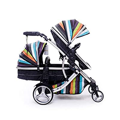 Fast Switching Twin Stroller Portable Two-way High Landscape Can Sit Lie Damping Double Trolley Portable Stroller ( Color : 1 )