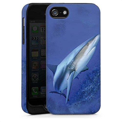 Apple iPhone 5s Housse étui coque protection Prédateur Requin Requin Cas Tough brillant