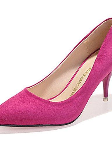 WSS 2016 Chaussures Femme-Décontracté-Noir / Gris / Multi-couleur-Talon Aiguille-Talons-Talons-Laine synthétique gray-us5.5 / eu36 / uk3.5 / cn35