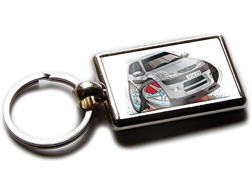 Citroën SAXO VTR KOOLART porte-clés chromée de qualité Officiel Voiture de Sport sur les deux côtés Choisissez une couleur., argent