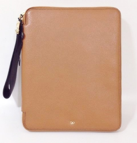 Anya hindmarch Seymour iPad Fall Braun/Tan Leder RRP £450 (Anya Hindmarch-leder)