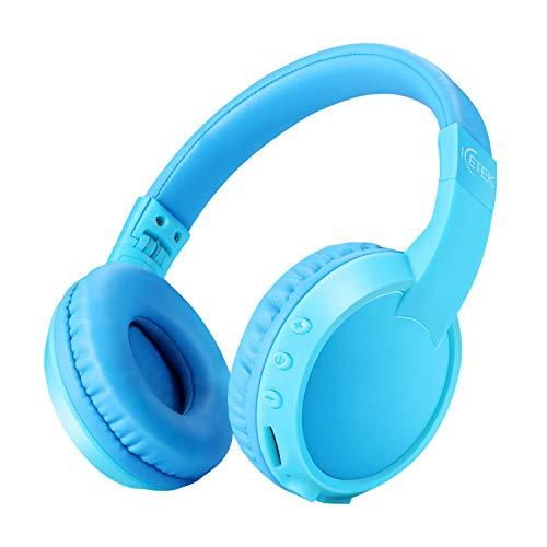 ICETEK Kinder Kopfhörer Blau 1 Ergonomisch Bluetooth Kabellos mit Lautstärkebegrenzung